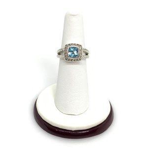 David Yurman Petite Albion Ring with Blue Topaz 6